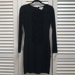 Long Sleeve black dress with fringe